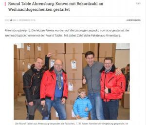 ahrensburg24.de Weihnachtspäckchenkonvoi